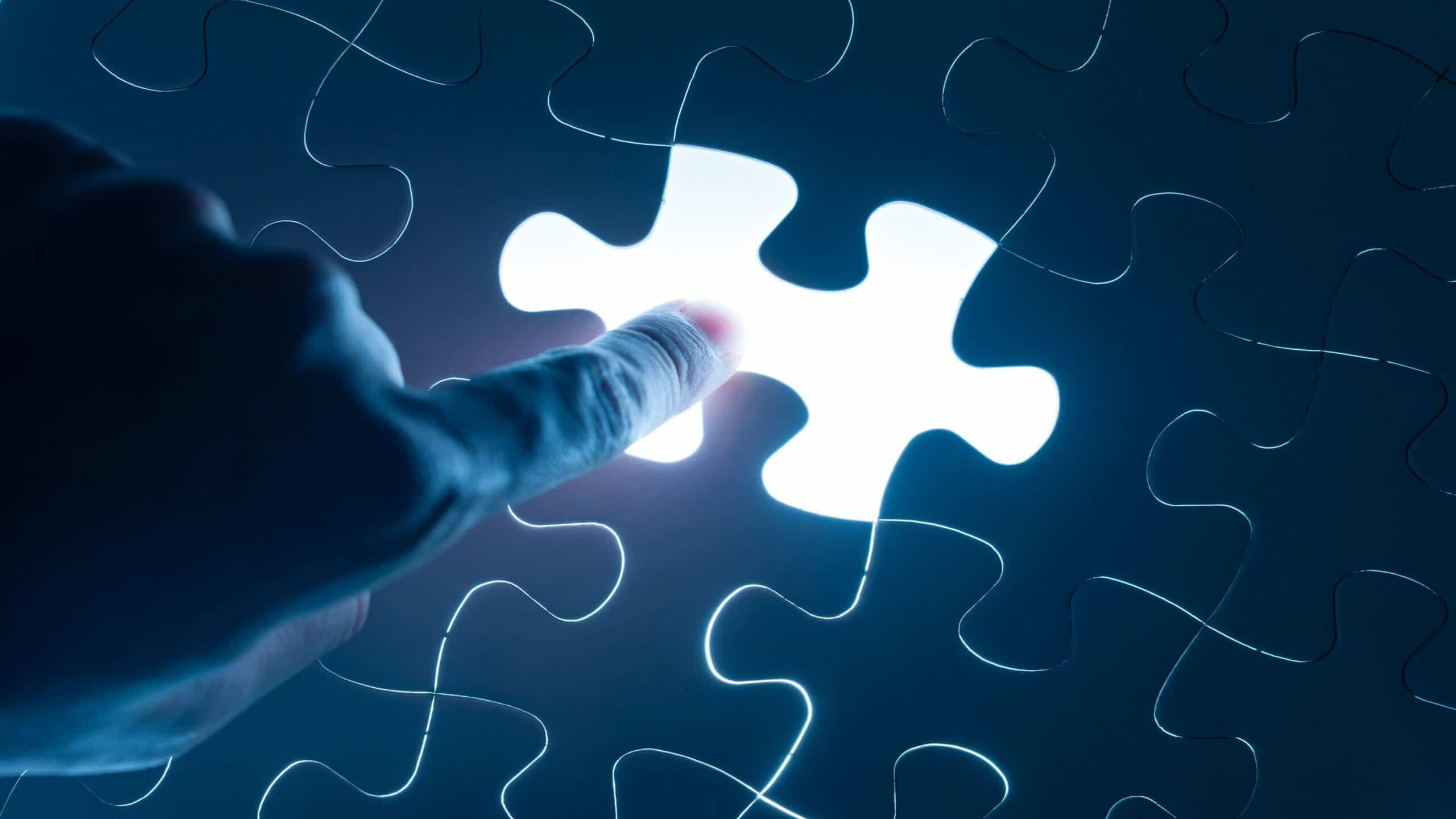 missing piece in puzzle alluring to the missing piece for one's complete life